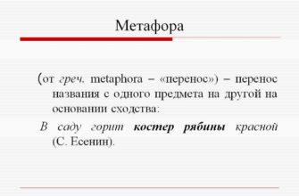 Метафора — что это такое
